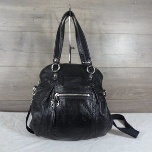 Coach 16283 Black Leather Poppy Shoulder Bag Tote